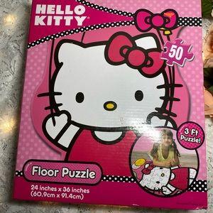 "Sanrio Hello Kitty Shaped Floor Puzzle 24"" x 36"""